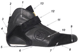 Silhouette racing shoes technical data