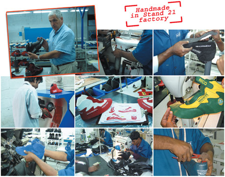 Racing boots manufacturing